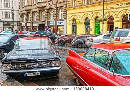 Chevrolet Impala In Streets Of Prague