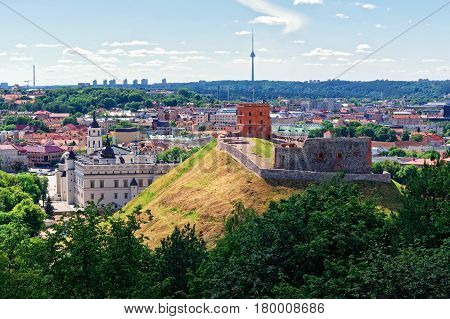 Lower Castle And Tower Vilnius Of Lithuania
