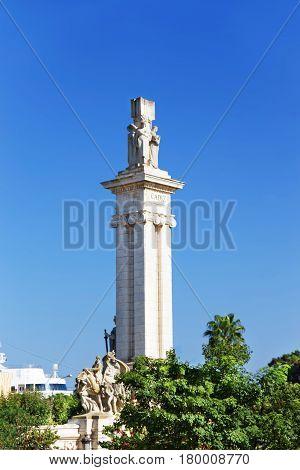 Monument To Constitution In Cadiz