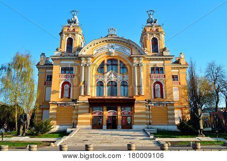 Cluj Napoca city Romania National Theatre landmark architecture