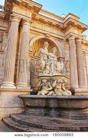 Albrecht Fountain On Albertinaplatz In Vienna