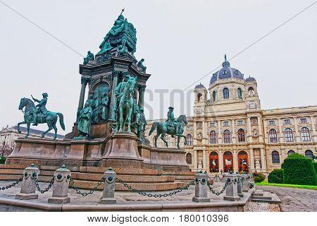 Maria Theresa Sculpture At Vienna Museum Of Natural History