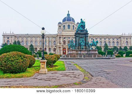 Maria Theresa Statue At Vienna Museum Of Natural History