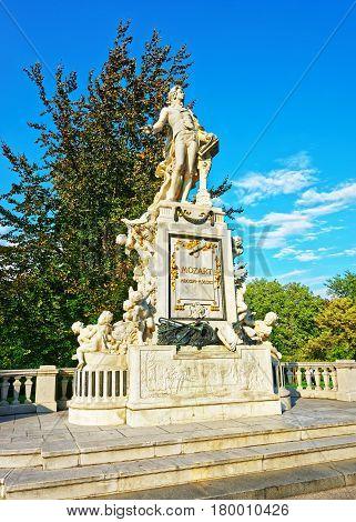 Mozart Statue In Burggarten Park