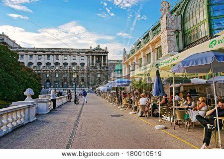 Palm House In Burggarten Vienna In Austria
