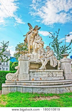 Raimund Ferdinand Sculpture In Weghuberpark Vienna