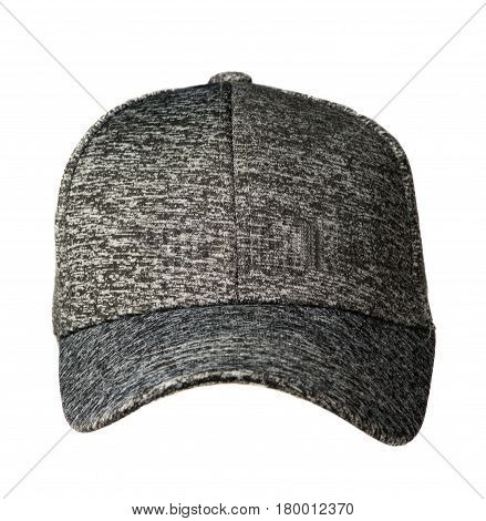Hat Isolated On White Background. Hat With A Visor .gray Hat