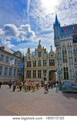 Chambers On Castle Square Of Brugge