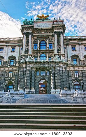 National Library Of Hofburg Palace In Vienna