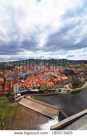 Old City Center With St Vitus Church Cesky Krumlov