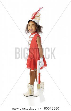 Young African American Majorette