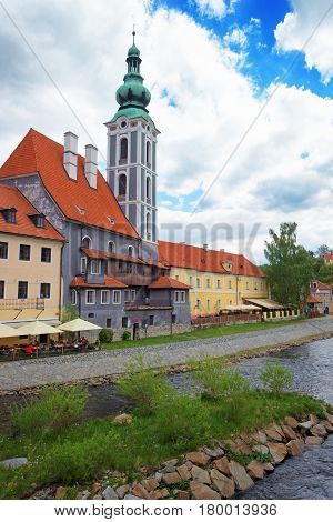 St Jost Church In Old City Of Cesky Krumlov