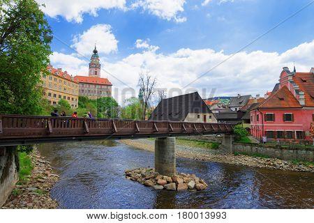 State Castle With Bend Of Vltava River Cesky Krumlov
