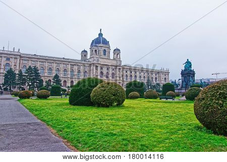 Vienna Museum Of Natural History With Tourists