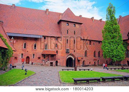 Architecture Of Malbork Castle Pomerania In Poland