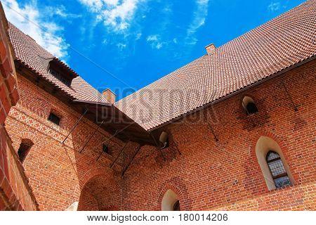 Architecture Of Malbork Castle Pomerania Poland