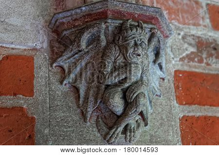 Devil At Toilet In Malbork Castle