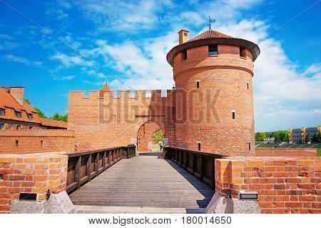 Entrance Into Malbork Castle Pomerania Poland