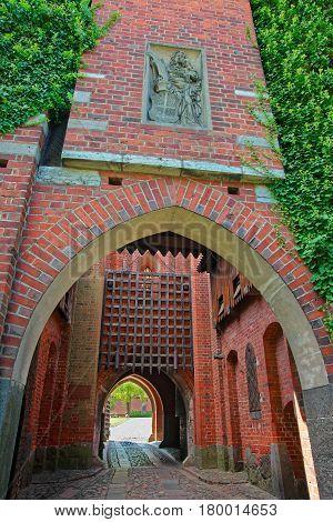 Entrance Gate Into Malbork Castle Poland