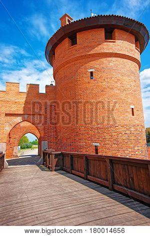 Entrance Into Malbork Castle Pomerania In Poland
