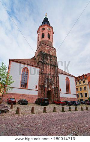 Facade Of Baden Baden Church Stiftskirche Germany