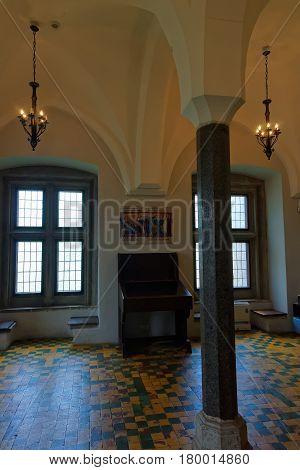 Malbork, Poland - May 8, 2014: Interior of Malbork Castle also called as Marienburg Teutonic Order in Pomerania Poland.