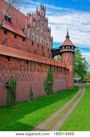 Malbork Castle At Pomerania Province Poland