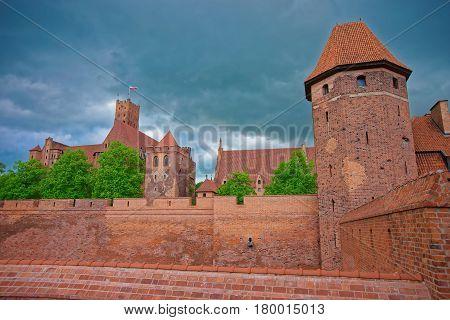 Malbork Castle In Pomerania Province In Poland