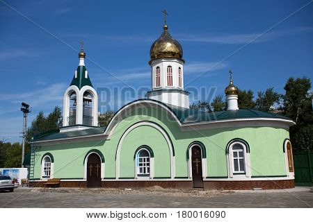 The Orthodox Church of Mary Magdalene (built in 2015) in the Petropavl Kazakhstan. Petropavl is a city in northern Kazakhstan close to the border with Russia.