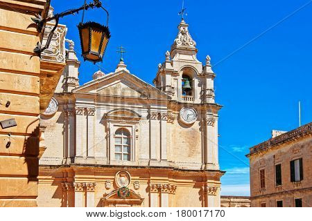 St Paul Cathedral in Mdina Malta Island