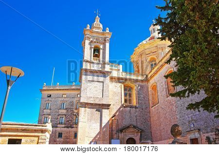 St Paul Cathedral Of Mdina In Malta