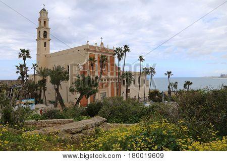 Jaffa, Israel - March 03, 2017: Saint Peter Church Is A Franciscan Church In Jaffa. The Church Was B