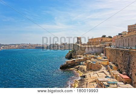 Siege Bell Memorial At Grand Harbor Valletta Malta