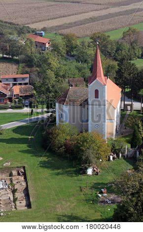 SCITARJEVO, CROATIA - OCTOBER 10: Parish Church of Saint Martin in Scitarjevo, Croatia on October 10, 2007.