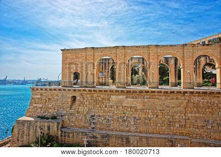 Upper Barracca Gardens Of Saint Peter Paul Bastion Valletta Malta