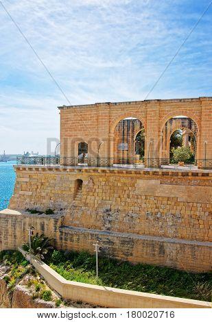 Upper Barracca Gardens At St Peter Paul Bastion Valletta Malta