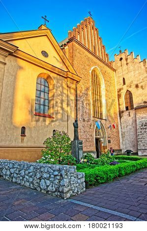 Church Of Saint Francis Assisi In Old Town In Krakow