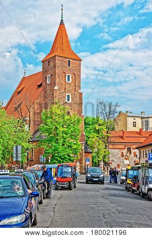 Church Of Holy Cross In Old Town Of Krakow