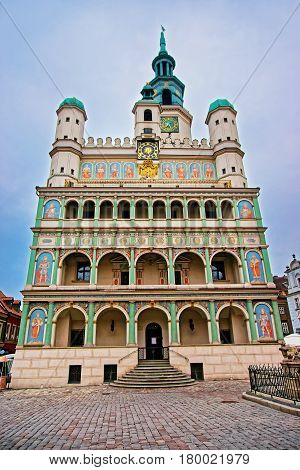 Old Town Hall On Old Market Square In Poznan