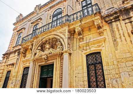 Decoration of Banca Giuratale Mdina of Malta