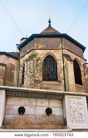 Madeleine Church At Old Town Of Geneva