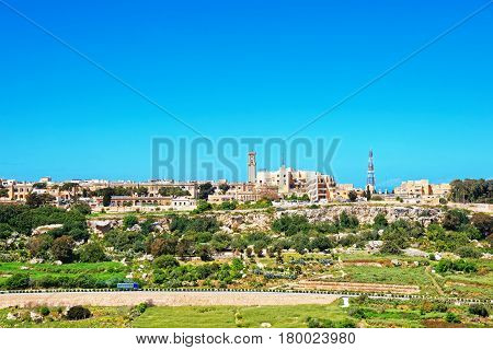 Scenery Of Mdina In Spring Time