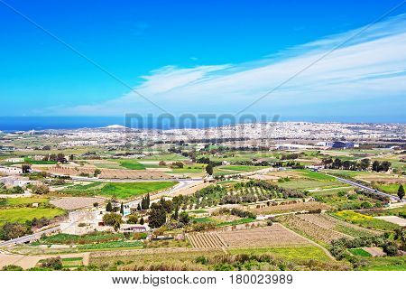 Scenery city of Mdina in spring  Malta