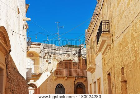 Traditional Architecture Of Buildings In Street Of Rabat