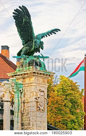 Tural Statue At Buda Castle In Budapest