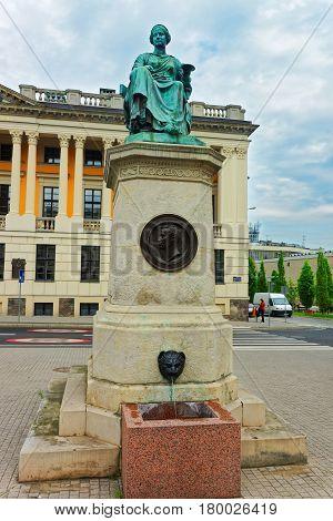 Hygeia Statue At Raczynski Library In Poznan