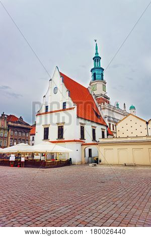 Market Square With Old Town Hall In Market Square Poznan