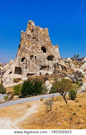 Goreme cave city in Cappadocia Turkey - nature background