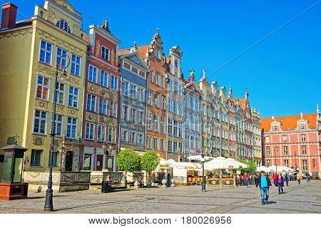 People On Long Market Square In Gdansk