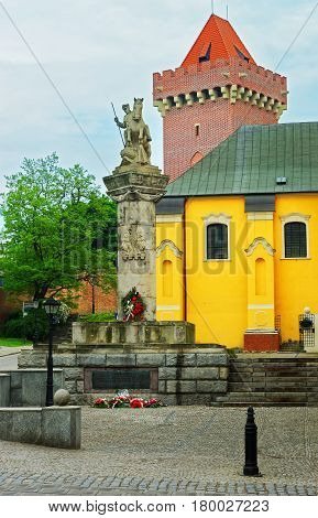 Uhlans Regiment Monument And Royal Castle Of Poznan